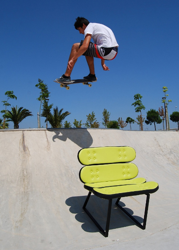 cool skateboard chairs from skate home Cool Furniture Ideas With Skateboard Style From Skate Home