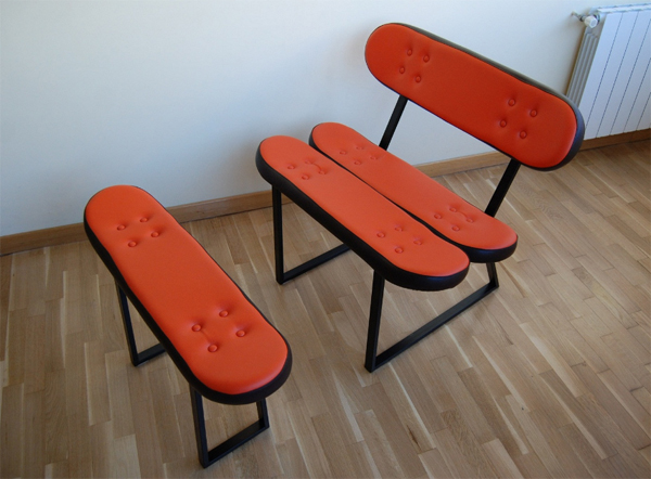 cool skateboard chairs furniture from skate home Cool Furniture Ideas With Skateboard Style From Skate Home