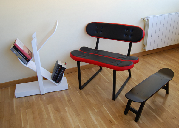 Furniture Ideas With Skateboard Style From Skate Home Home Design
