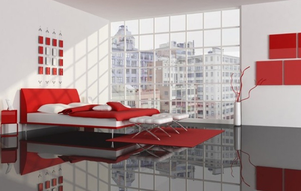 Black and red bedroom interior design - Black and red bedroom decor ...