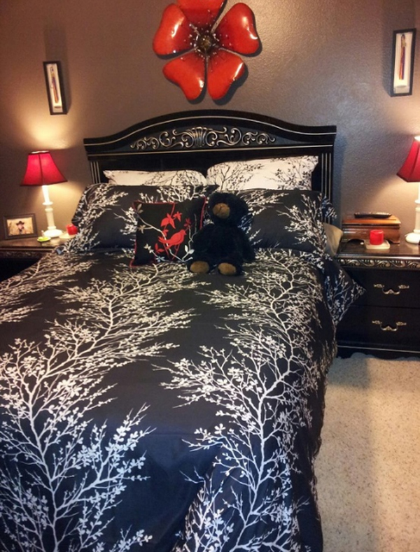 coolest-black-red-bedroom-design-for-girl | Home Design And Interior