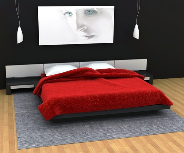 Coolest red and black bedroom design - Red and black bedroom decor ...