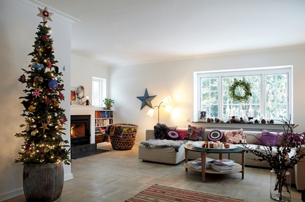 Danish House With Christmas Room Ideas