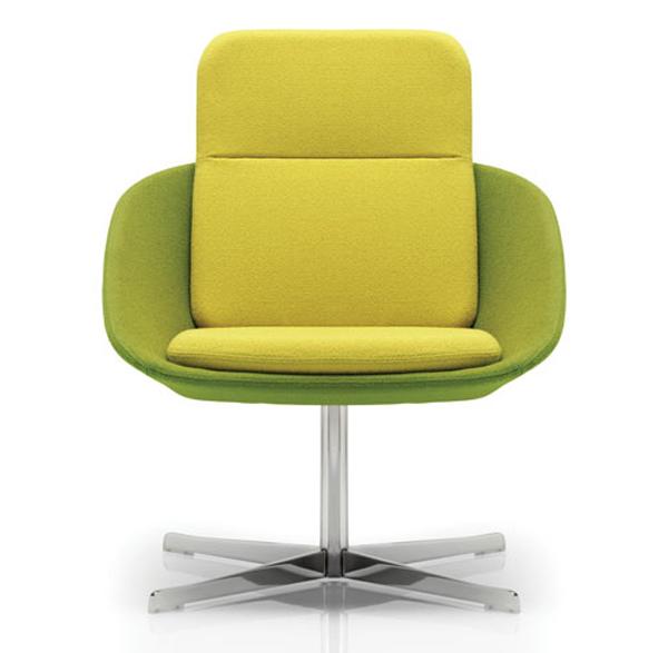 21 Fresh Modern Living Room Designs: Fresh-green-sofa-chairs-furniture
