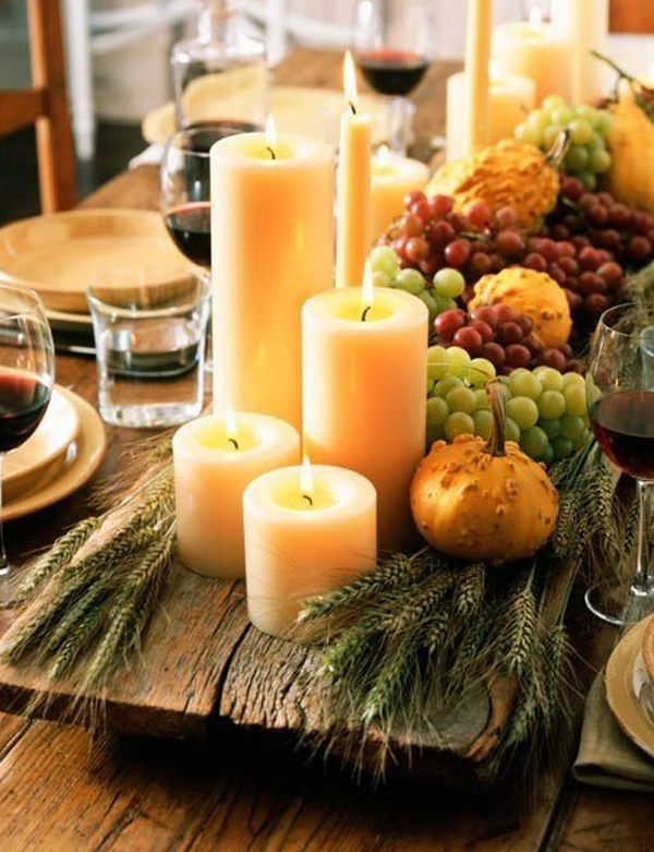 Easy eco friendly ideas for your thanksgiving table Decorating thanksgiving table