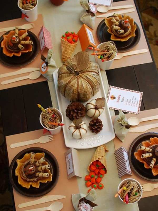 Gorgeous and awesome thanksgiving table setting ideas for Gorgeous thanksgiving table settings
