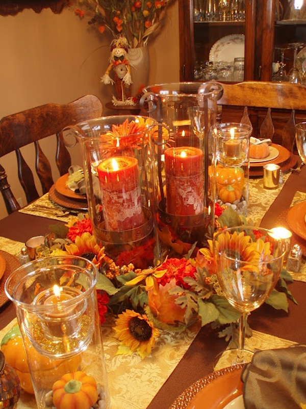Gorgeous and awesome thanksgiving table centerpieces Fall decorating ideas for dinner party
