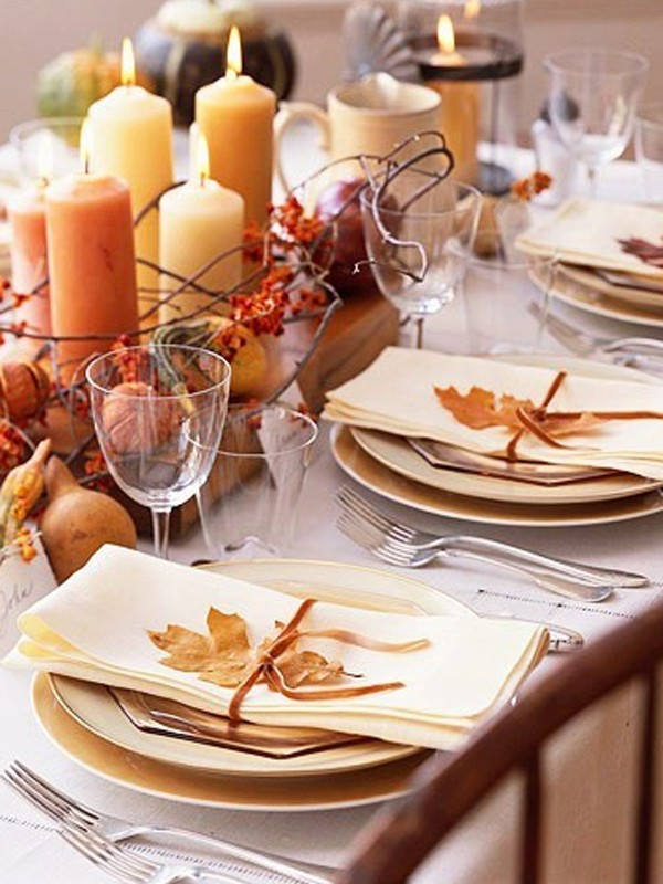 Traditional thanksgiving table decorations Decorating thanksgiving table