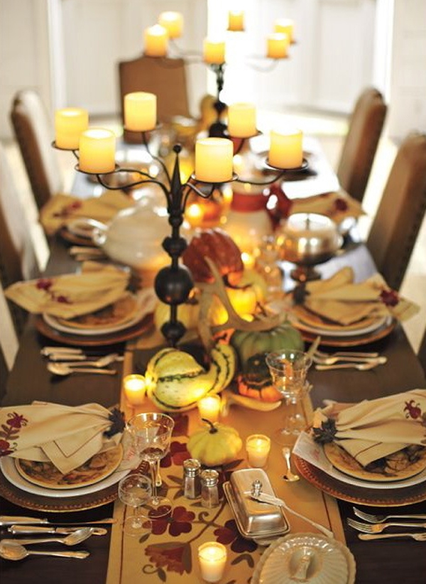 Gorgeous and awesome thanksgiving table ideas Decorating thanksgiving table