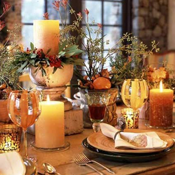gorgeous and awesome thanksgiving table decorations : gorgeous and awesome thanksgiving table setting ideas from homemydesign.com size 600 x 600 jpeg 289kB