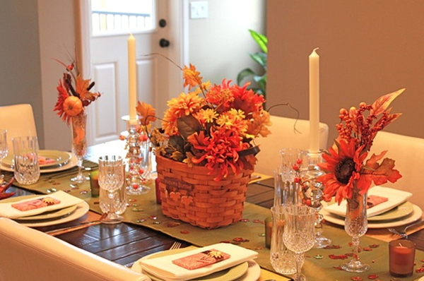 20 gorgeous and awesome thanksgiving table decorations How to set a thanksgiving dinner table