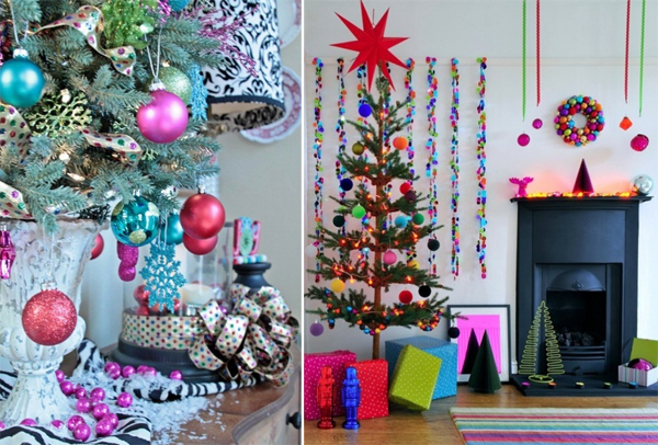 gorgeous and colorful christmas decoration for special moments - Colorful Christmas Decorations