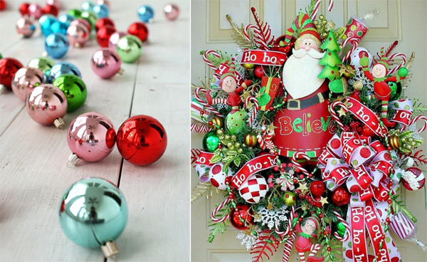 gorgeous and colorful christmas ideas - Colorful Christmas Decorations