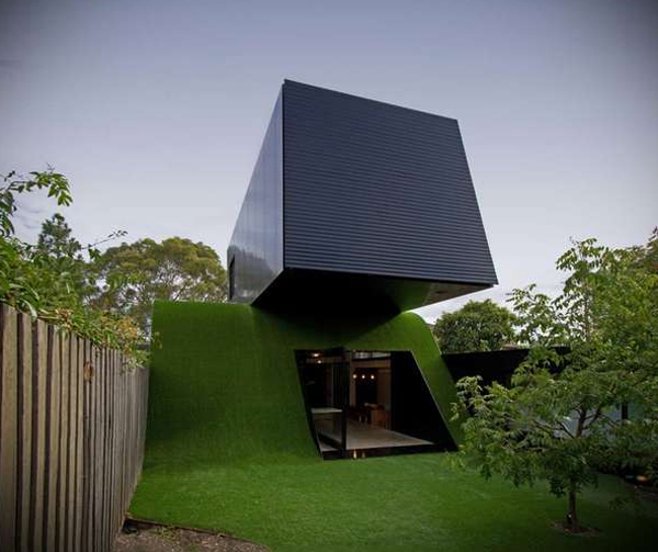 Superior Green Small House Design By Andrew Maynard Architects