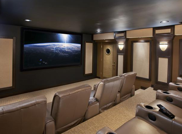 inspiring home theater decor from cedia. Black Bedroom Furniture Sets. Home Design Ideas