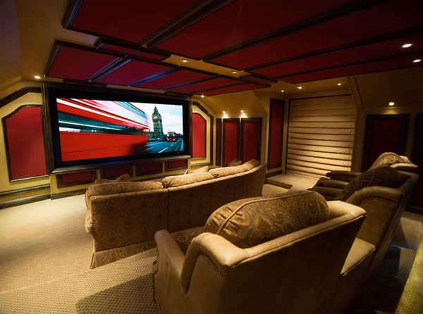 Inspiring modern home theater ideas from cedia - Diy home theater design idea ...