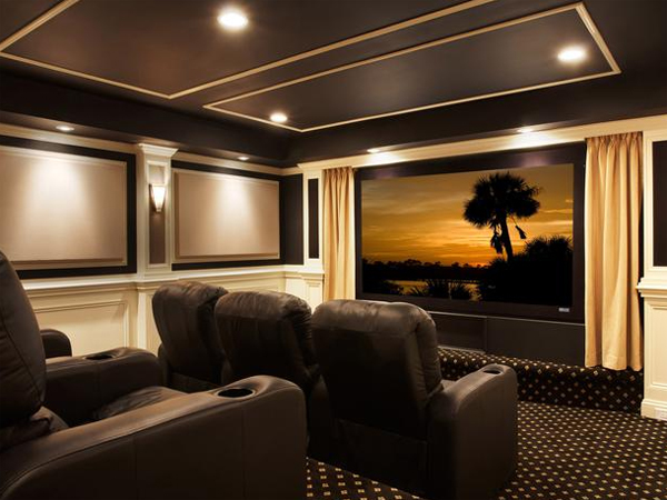 The Images Collection Of Inspiring Gallery Designs Ideas: Best-collection-home-theater-design-ideas-from-cedia