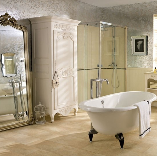 Luxury bathroom decor with bathtubs design for Bathroom decor 2012