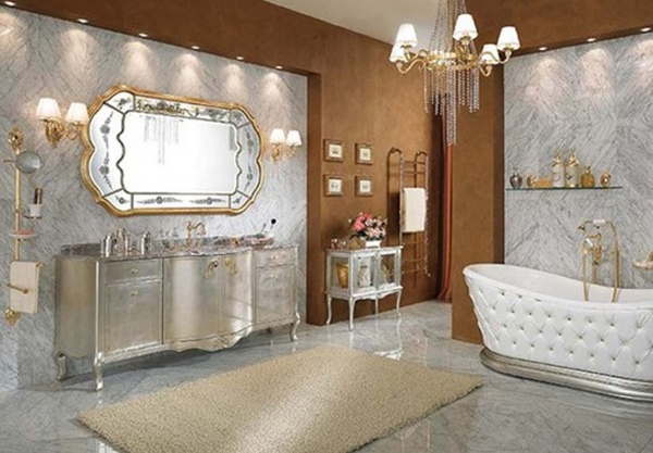 Luxury bathroom design with classic style for Bathroom designs classic