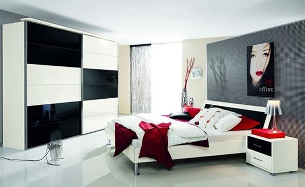 Luxury Black And Red Bedroom Design Ideas