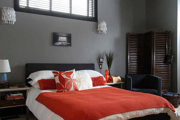 Coolest red and black bedroom design for Red and black bedroom designs