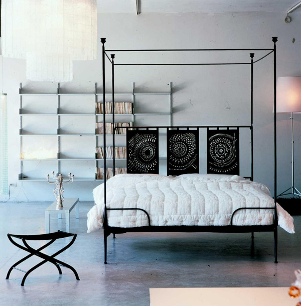 Minimalist classic bed with rustic design home design for Classic minimalist house design