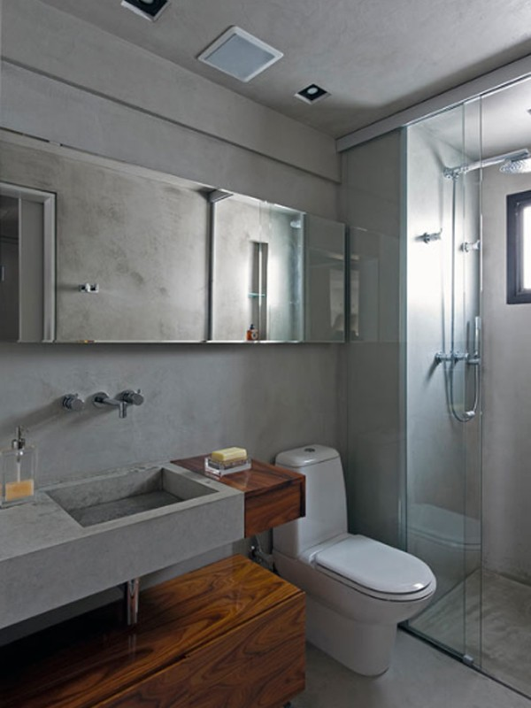 Charming Modern Apartment Bathroom Ideas Part - 12: Gallery Of Modern Attic Apartments Located In Brazil By Diego Revollo
