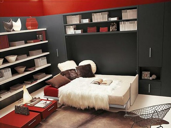 Modern Bedroom Red modern red and black bedroom design ideas - cool teenage girl