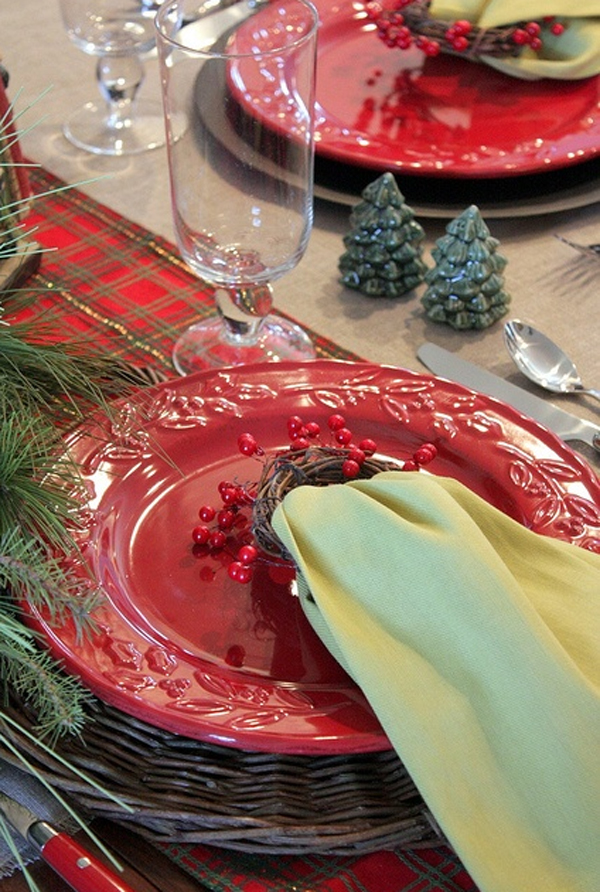 most amazing red christmas table settings