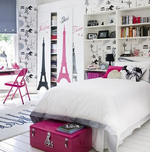 Stylish Pink And White Bedroom Ideas For Girl