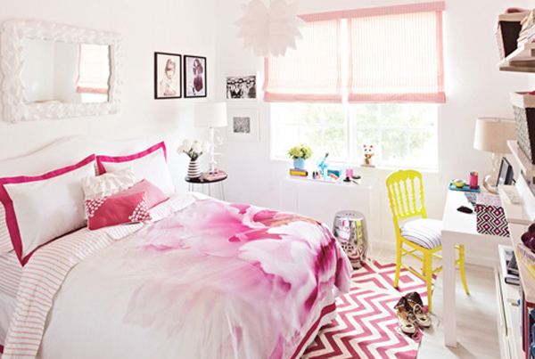 stylish-pink-bedroom-decoration-design-for-girl