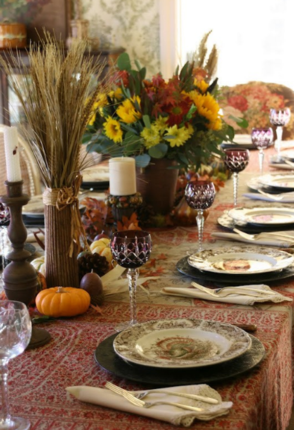 20 gorgeous and awesome thanksgiving table decorations - Thanksgiving dinner table decorations ...