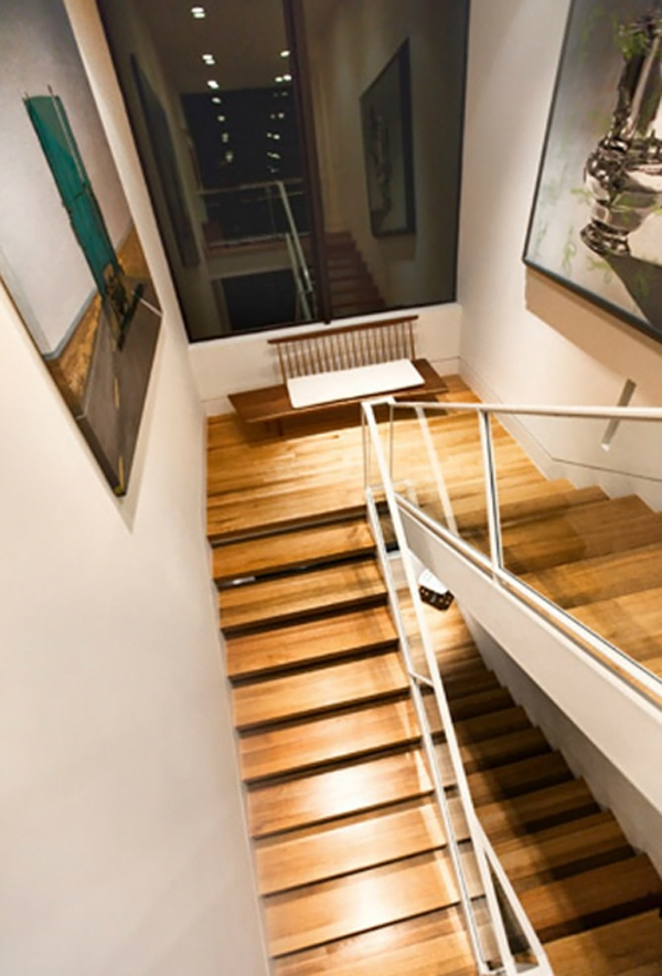 Wooden Stair Design In Twilight Saga House By John Hoke