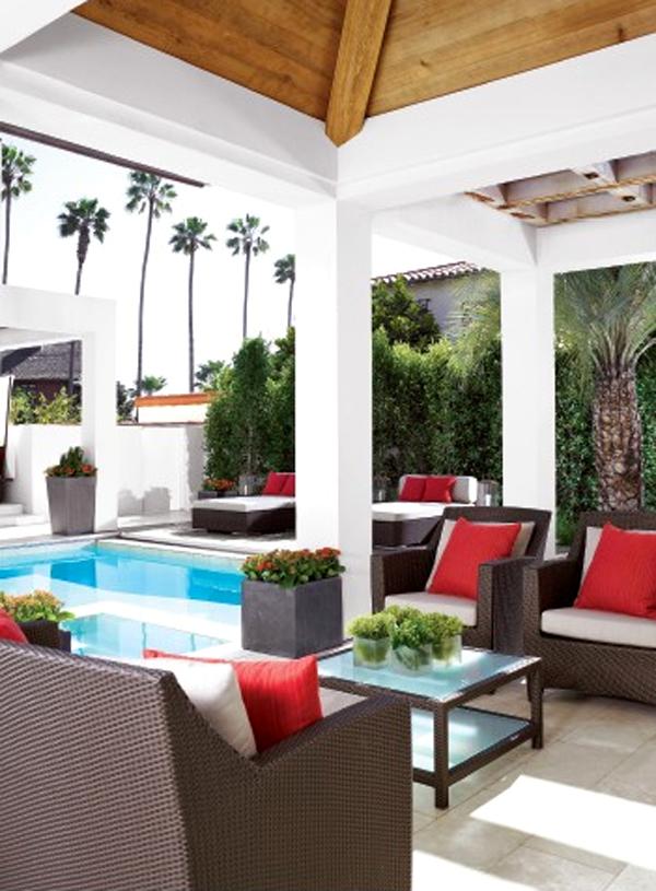 14 Comfortable And Modern Backyard Pool Ideas   HomeMydesign on Modern Backyard Ideas With Pool id=42105