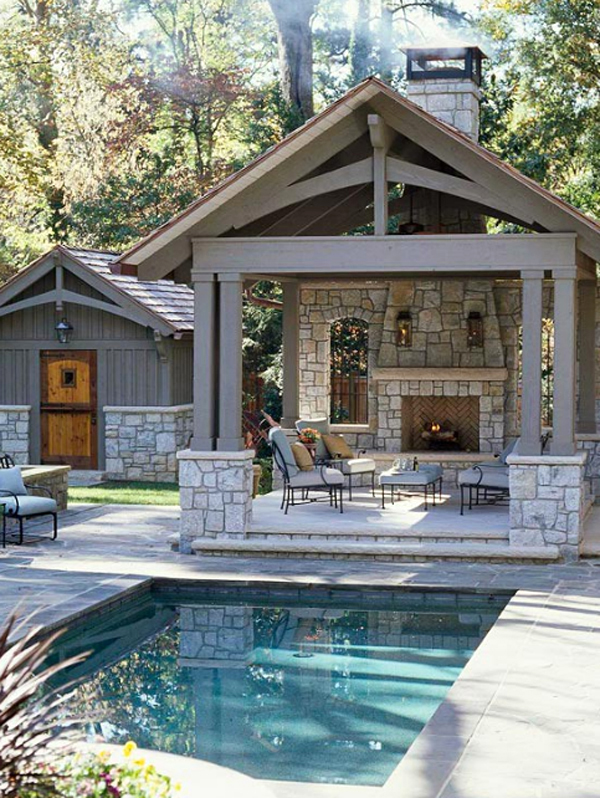 Comfortable and modern backyard pools design for Pool house designs