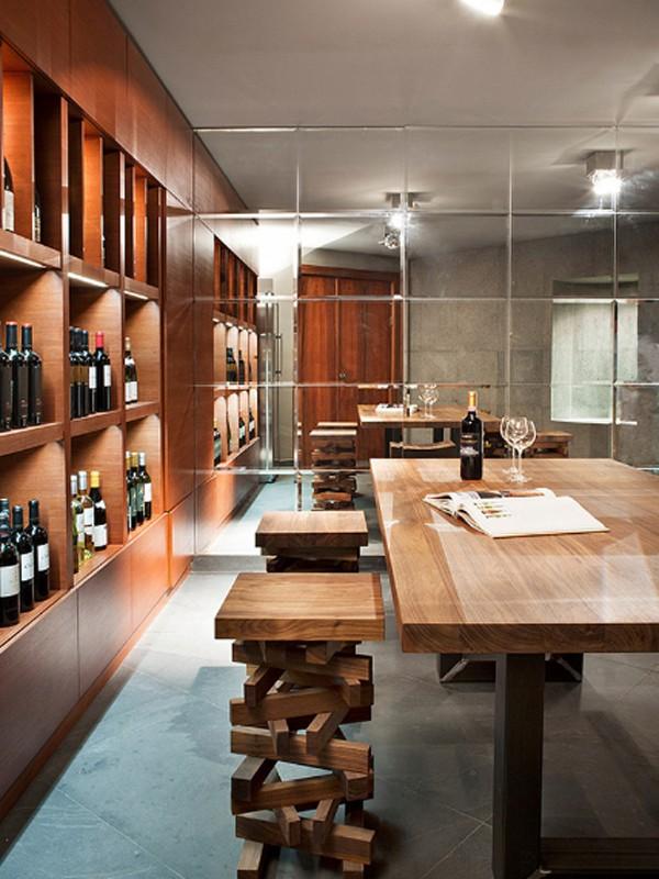 Contemporary Home Design With Wine Cellar Located In Russia