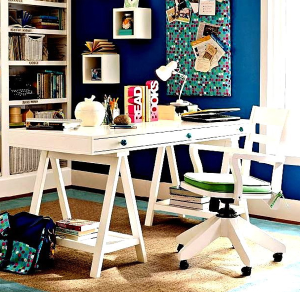 Futuristic home office decorating with small space ideas - Small home office space gallery ...
