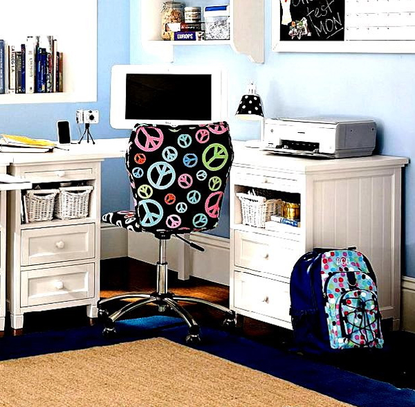 Futuristic kids office room with small space ideas - Small bedroom space ideas property ...