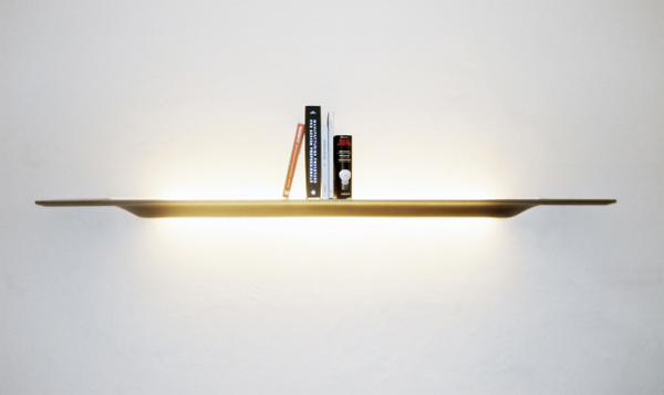 Plyght Is Wall Shelves Also Functions As A Lamp Lighting, Made Of Plywood  And Sheet Molding Also Designed By Joeri Reynaert. Turns Make Room For  Integration ...