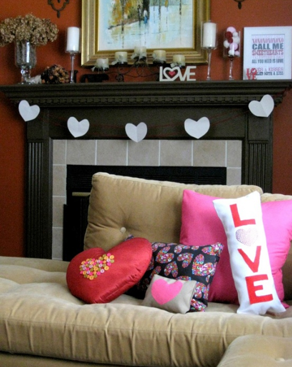 15 valentine day decorations with romantic ideas home - Valentine day room decoration ...