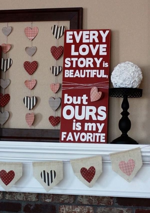Valentine day decorations with romantic ideas for Home decorations for valentine s day