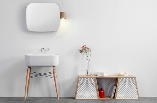 White Sink By Michael Hilgers Opening Collection Of Bathroom Appliances In  2013, Combining Minimalist Ceramic Basin With Modern Style Furniture And  More ...