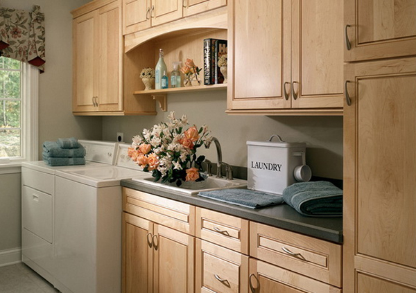15 creative laundry room ideas with wood furniture 15 Creative Laundry Room Design with Wooden Furniture