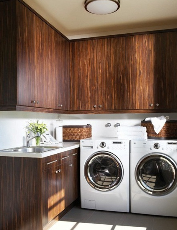 15 creative laundry room ideas with wooden furniture 15 Creative Laundry Room Design with Wooden Furniture