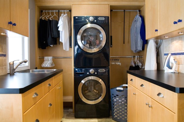 15 creative laundry room with wooden furniture 15 Creative Laundry Room Design with Wooden Furniture