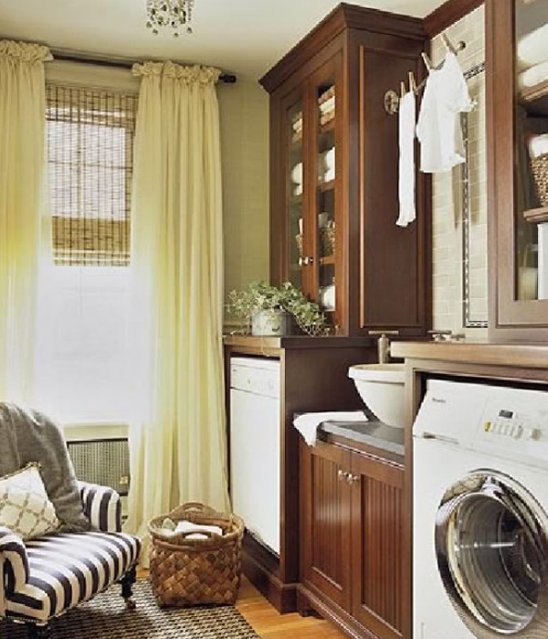 15 small laundry room with wooden furniture 15 Creative Laundry Room Design with Wooden Furniture