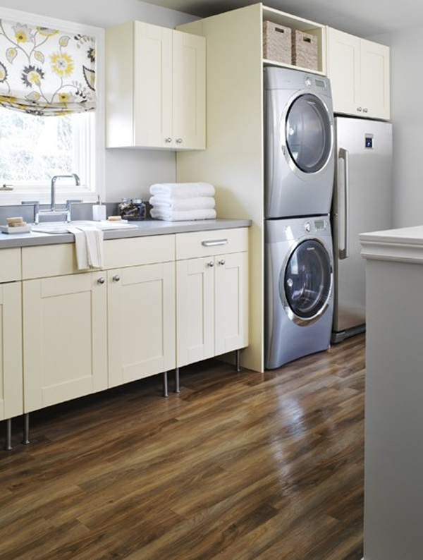 Gallery of 15 Creative Laundry Room Design with Wooden Furniture