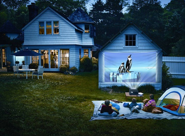 Backyard Theater System 15 wonderful outdoor home theaters | home design and interior