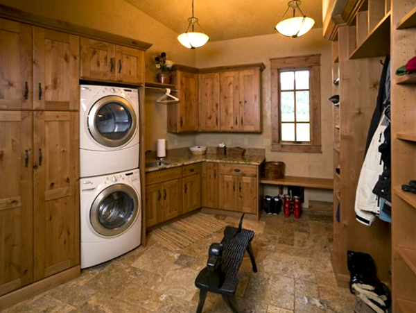 15 wooden laundry room design 15 Creative Laundry Room Design with Wooden Furniture