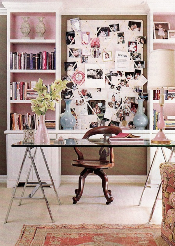 17 pink office ideas cute space for girl home design for Home design vision board